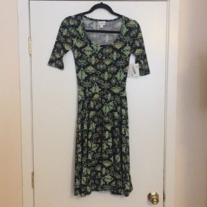 XXS LulaRoe Nicole Dress D05 835